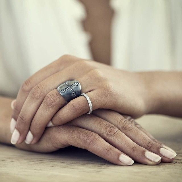 To live a creative life, we must lose our fear of being wrong  Otto Jewels shield ring with icy diamonds  #ottojewels #jewels #jewelry #shield #ring #love #givelove