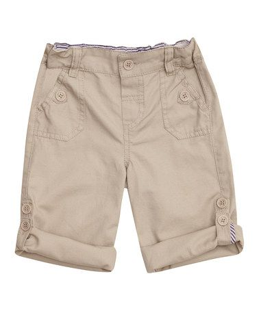 Look what I found on #zulily! Stone Twill Turn-Up Pants - Infant, Toddler & Boys #zulilyfinds