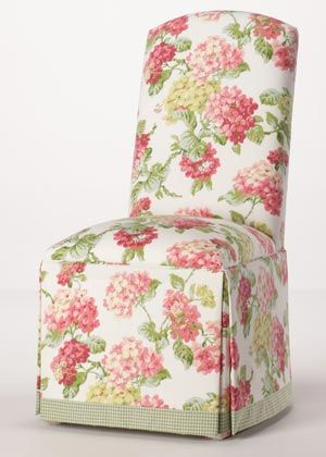 Belmont Parsons Chair...love this fabric for a tea room