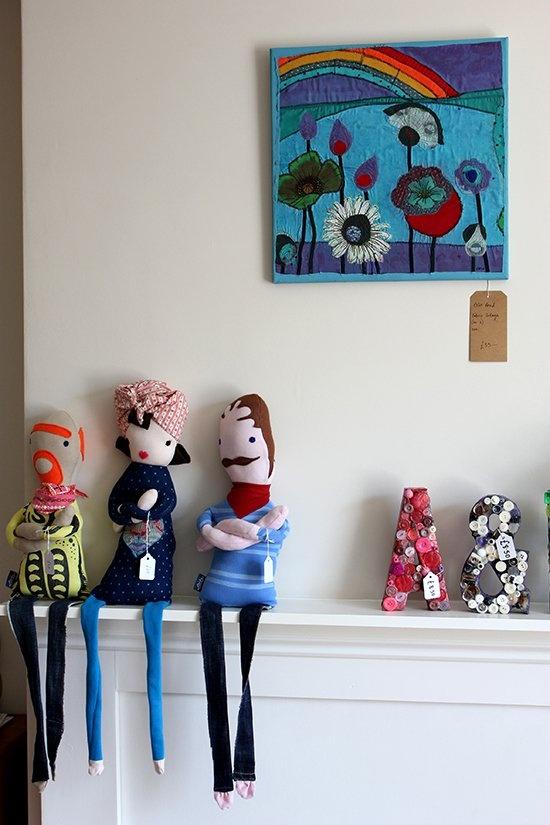 Retro Mod 50s handmade cloth dolls by Elbojobo. A great Mothers Day gift too! via SmallforBig.com #dolls #kids #toys