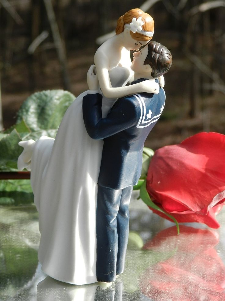 Navy Sailor Wedding Cake Toppers