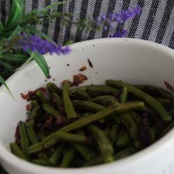 Foto recept: Salade van sperziebonen en zongedroogde tomaten