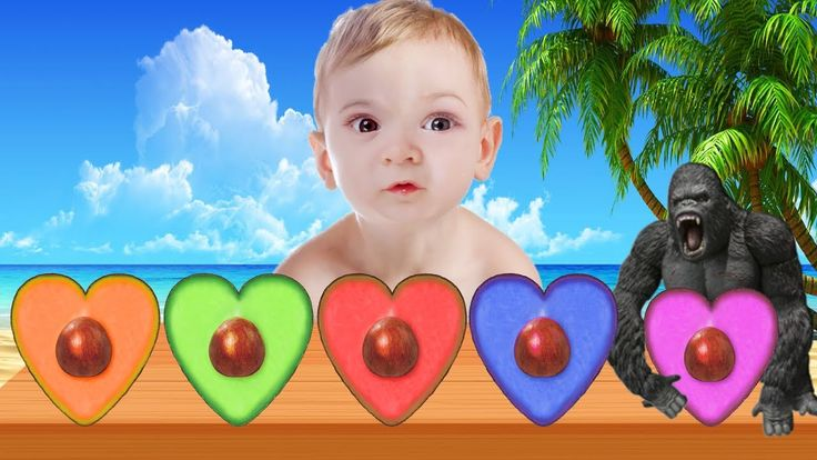 Learn Colors with Avocado 2 - Colors for Kids to Learn with Avocado Fing...