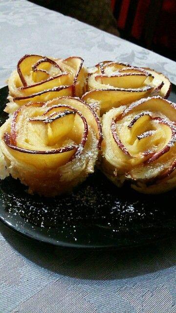 ♦Apple roses/ Rosas de maçã♦Mafalda♦ Dinner/Jantar ♦Homemade/ Feito em casa♦