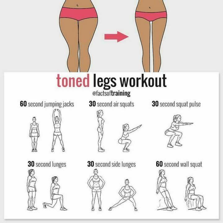 Toned Legs Workout Latihan Kebugaran Paha Latihan Fisik Motivasi Latihan