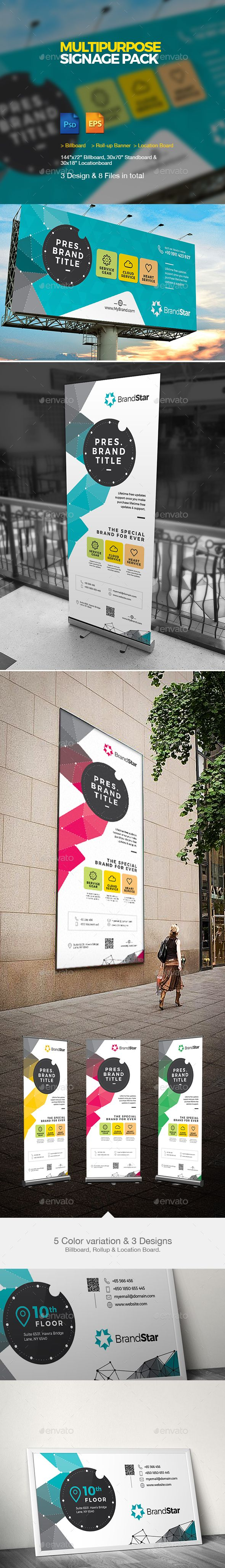 Multipurpose Signage | Roll-up & Billboard Template PSD, Vector EPS