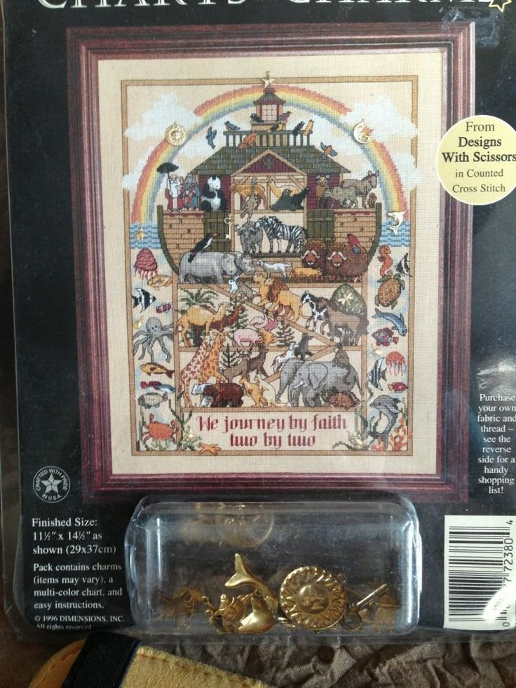 Noah's Journey Ark Charts & Charms Dimensions Cross Stitch Pattern Animals NIP