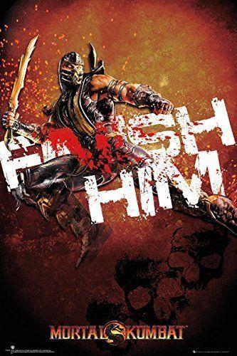 Mortal Kombat Finish Him! Computer Video Game Poster Print Wall Art Large Maxi