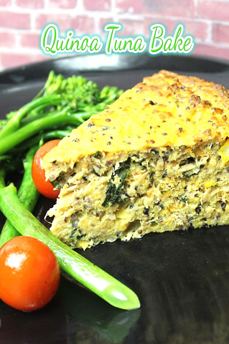 This Quinoa Tuna Bake is amazing!  It is packed with goodness, filled with veg, great cold in lunchboxes!