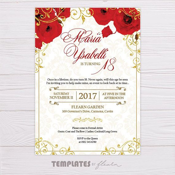 royal invitation red royal invitation