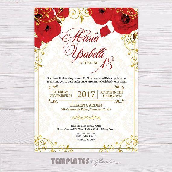 royal invitation red royal invitation