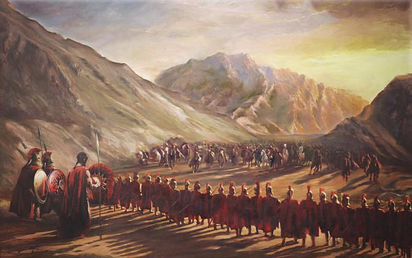 Battle of Thermopylae, King Leonidas And His 300 Spartans Block ...