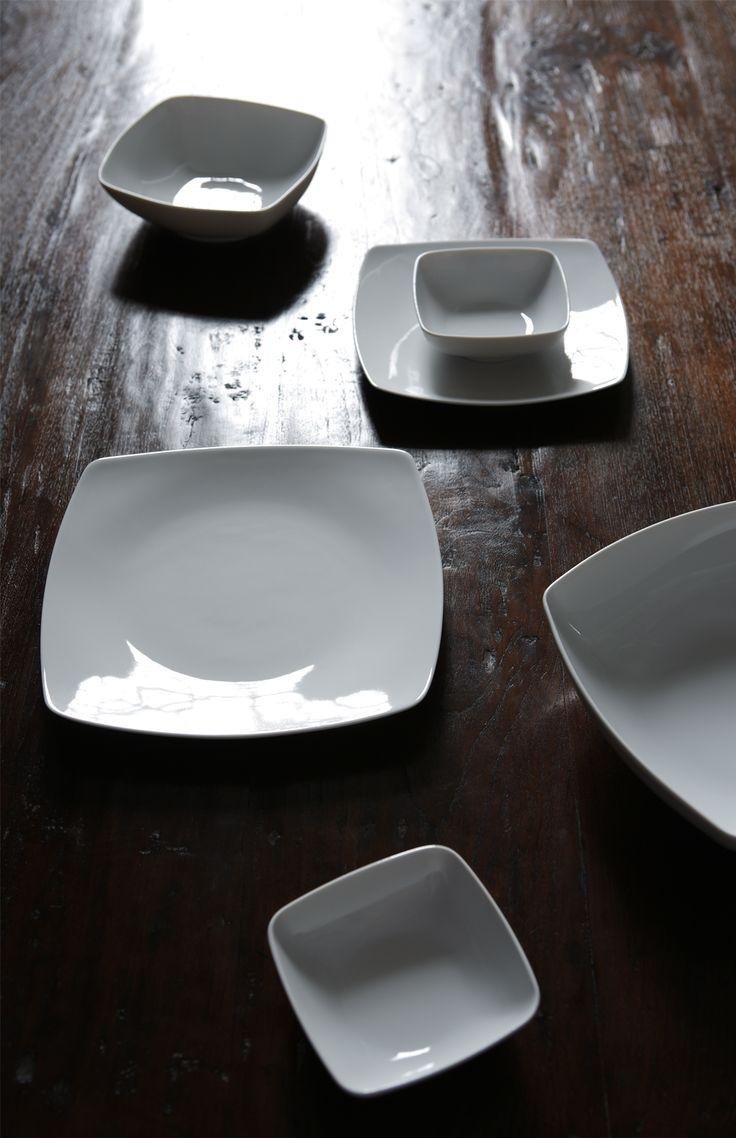 Set piatti quadrati