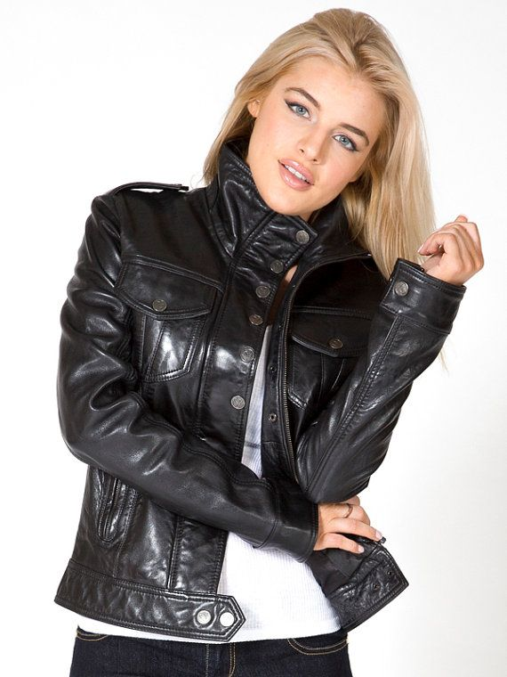 Leather Jacket for Women . Women Leather Jacket . by Oligarci