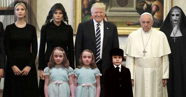 20 réactions hilarantes au pape triste qui rencontre les Trump