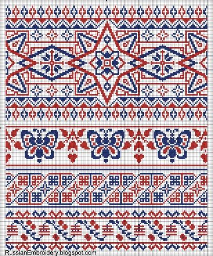 Старинные схемы для вышивки