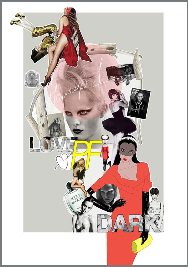 Playing Fashion moodboards on Behance