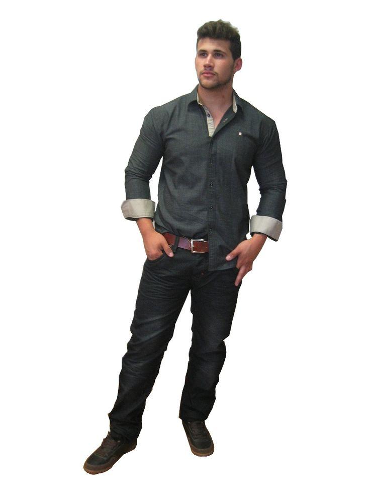 12 best images about camisas hombre juan laorden moda - Combinaciones con gris ...