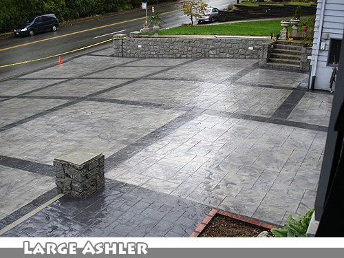 Concrete Driveway Design Ideas stamped concrete driveways ideas for front house Google Image Result For Httpwwwcmdtcaimagesstamped Concrete Driveways Stamped Concrete Driveway 01jpg Driveways Pinterest Stamped Concrete