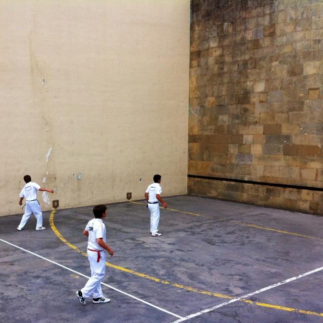 Basque handball game in Getaria