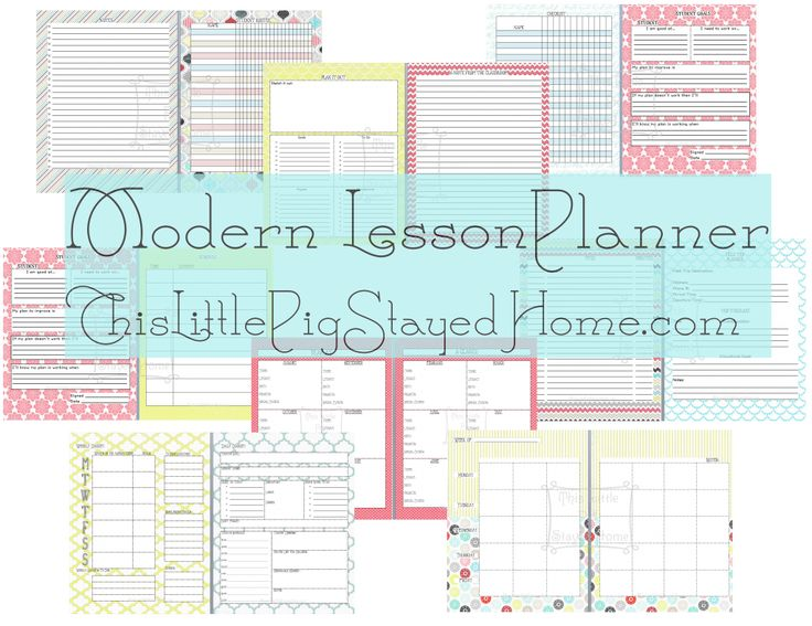 FREE & CUTE?!?!? Great planner for teachers & homeschoolers alike