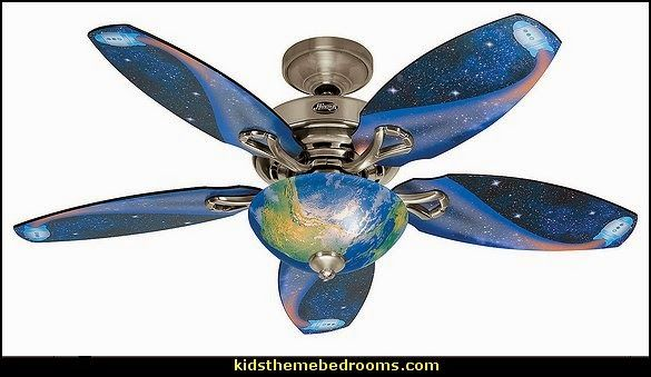 Ceiling Fan with Space Design Light Kit