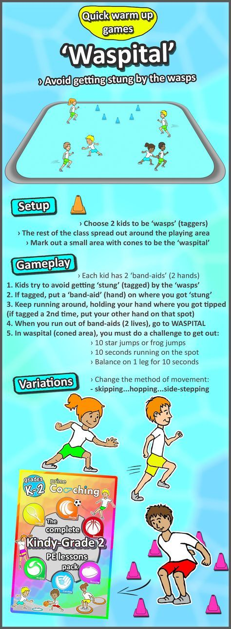 • Waspital • Your kids will love these free PE warm games and activities in your next gym lesson! Try them out now!