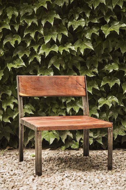 : : : Silla Matera : : : Hierro y madera https://www.facebook.com/SachaMuebles