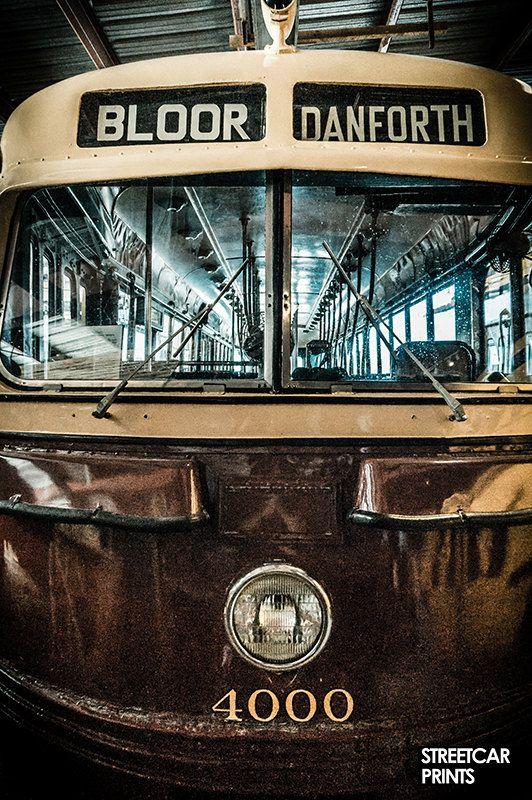 Vintage Toronto TTC streetcar photo canvas by streetcarprints
