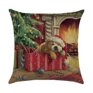 Christmas-Pillow-Case-Santa-Cotton-Linen-Sofa-Car-Throw-Cushion-Cover-Home-Decor