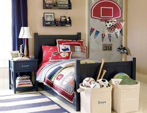 baloncesto con temas de decoración dormitorio