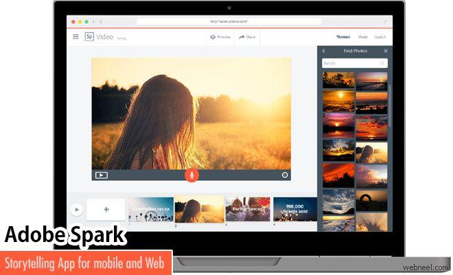 Upgraded Adobe Spark App Converts Your Photos Into Video http://webneel.com/node/10711 | Design Inspiration http://webneel.com | Follow us www.pinterest.com/webneel