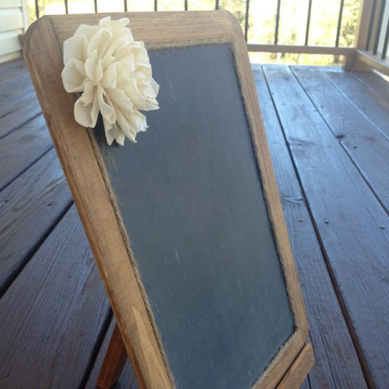 Wedding Chalkboard with Easel - MyWedStyle.com