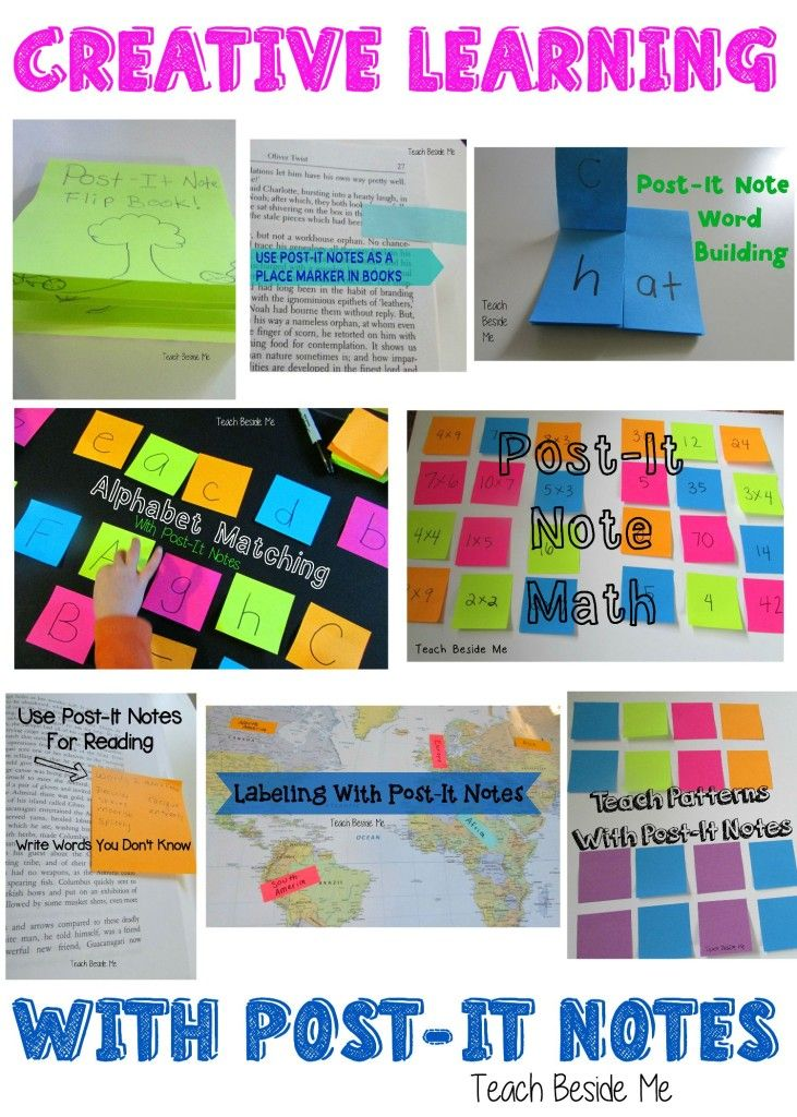 Creative Ways To Learn With Post It Notes Homeschooling Teaching