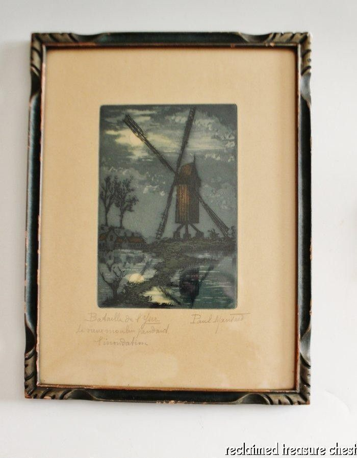Paul Mansard Original Etching Bataille de l'Yser World War 1 Aquatint Signed   #1817330426
