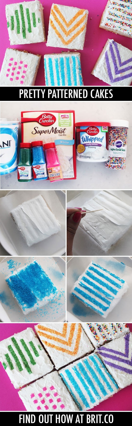 Use Wax Paper Stencils to Make Pretty Patterned Cakes