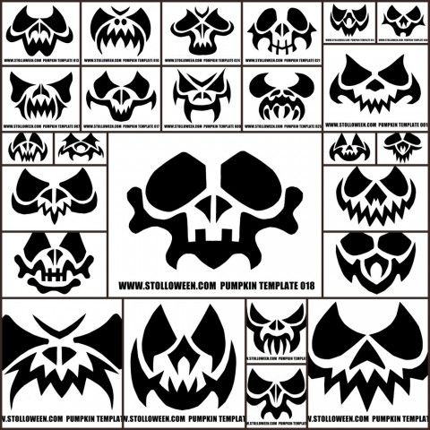 100 pumpkin carving templates