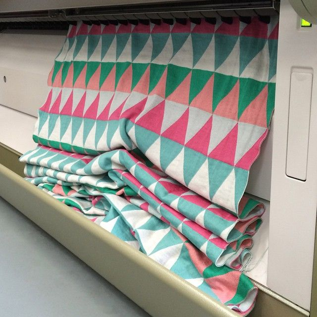 Uimi - Inside our factory - Our Indiana blanket in Pistachio coming off the machine - www.uimi.com.au