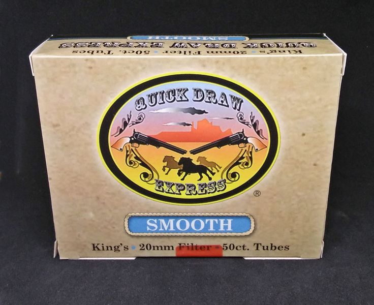 Quick Draw Express Cigarette Smooth (Lite) 50 Cnt. King Tubes-Lot Of 20 Boxes