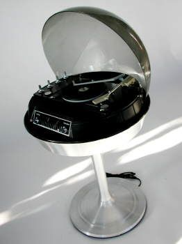 space age record player - My dad had one of these but it was white with speakers that matched. I called it a bubble stereo.
