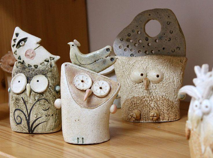 """""""Civette, Gufi, Barbagianni / Little owls, owls, barn owls"""" cod. 001, Ø 7 cm x h…"""
