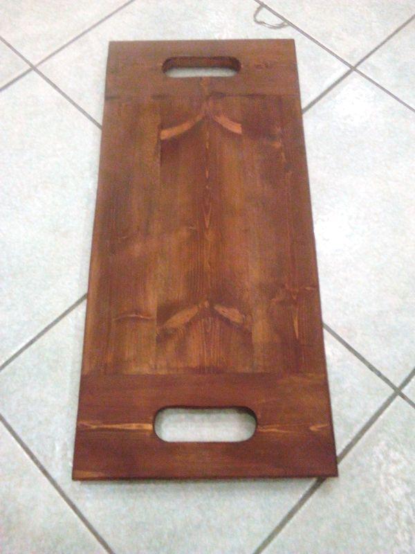 Δίσκος ξύλινος 54χ26 εκατοστά από ξύλο μασίφ