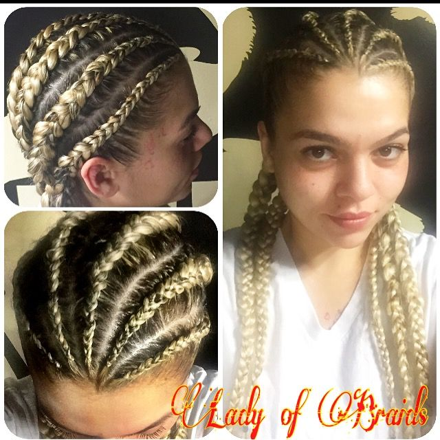 dope boxer braids blonde hair latina