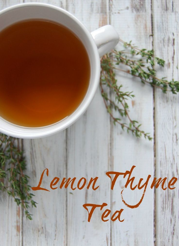Lemon Thyme Tea - A great tea for coughs, colds, congestion. Safe for adults and kids!