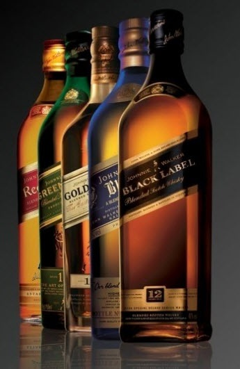 Gorgeous group shot of Johnnie Walker Labels! #scotch