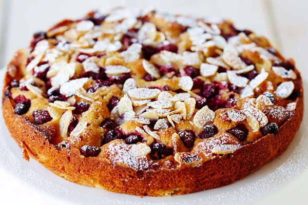 The Healthy Baker Pear Almond Raspberry Pie
