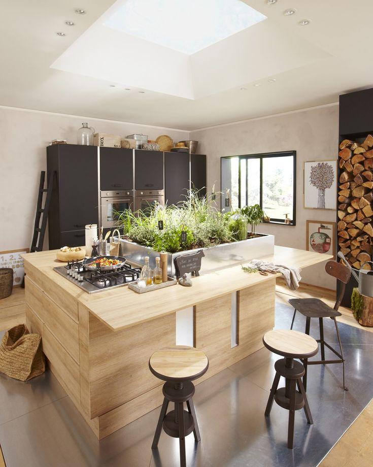 Les Meilleures Images Du Tableau Idées Déco Cuisine Ouverte Sur - Verin a gaz pour meuble de cuisine pour idees de deco de cuisine