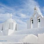 Church from Cyclades, Marpissa village, Paros island, Greece