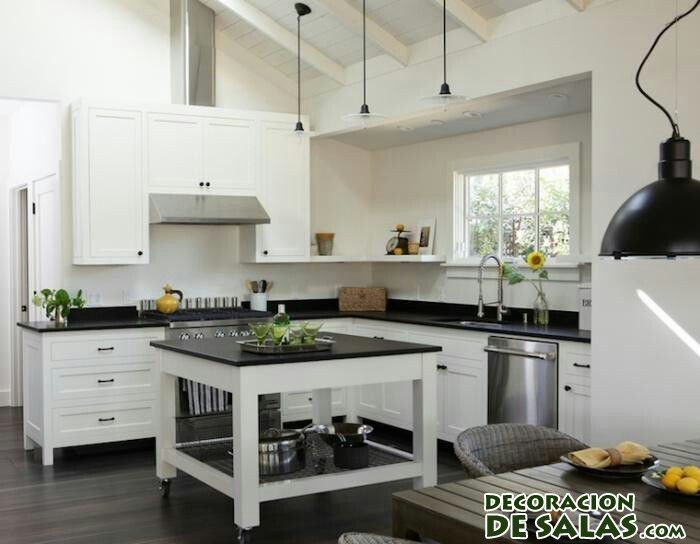 cocina moderna en dos colores