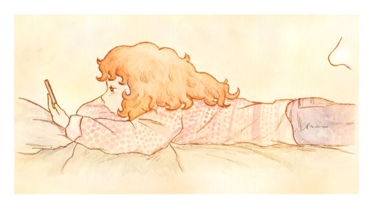 """""""Rebecca annoiata"""". Illustrazione per il romanzo per ragazzi """"Vivere a Venezia"""", di Laura M. Cecilia Ferro."""